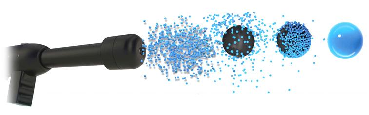micro-pulverización electrostaica descontaminacion