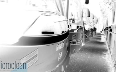 Tecnología y especialización en las tareas de desinfección de transporte público