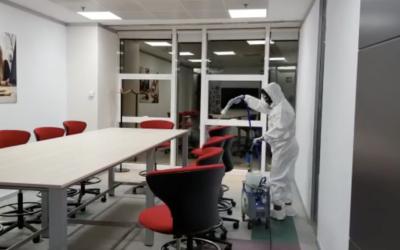 Desinfección de oficinas, garantía de seguridad en entornos laborales